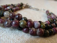 Multistrand tourmaline bracelet tourmaline and by LetLooseJewelry, $39.00