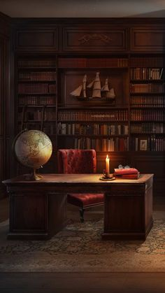 A Gentleman's Study – Home Office Design Vintage Home Library Design, Home Office Design, Home Office Decor, House Design, Home Decor, Zigarren Lounges, Ed Wallpaper, Beautiful Library, Library Room