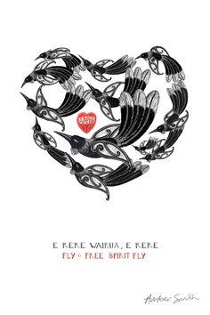E Rere Wairua — Amber Smith Artist Sculpture Art, Sculptures, Maori Art, A3 Size, Kiwiana, Illustration Art, Illustrations, Cross Stitch Heart, Symbolic Tattoos