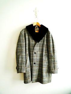 Midcentury Unisex Wool and Faux Fur Coat / by ShantyIrishVintage