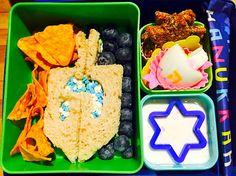 4th Day of Hanukkah Bento and Snacks.
