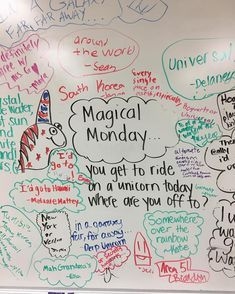 Monday's whiteboard Morning Activities, Writing Activities, Classroom Activities, Daily Activities, Classroom Ideas, Morning Meeting Board, Morning Board, Morning Meetings, Monday Morning