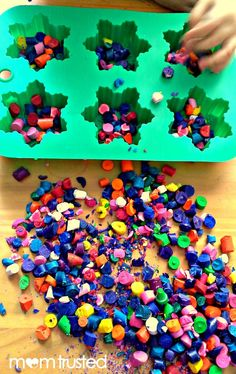 My blog post for Mom Trusted :How to recycle your old broken crayons.  These turn out so cute and were a big hit when I made them as hearts for a V-day party!