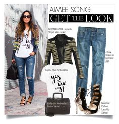 """""""Look of the Day : Aimee Song"""" by mariemm23 ❤ liked on Polyvore featuring Oui, J.Crew, BCBGMAXAZRIA, 3.1 Phillip Lim, Monique Lhuillier, StreetStyle, BloggerStyle and aimeesong"""