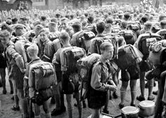 Many schools became feeder groups for the Hitler Youth, with children pressured into joining. The Nazi government also funnelled children into the Hitler Youth by banning alternative or rival groups, such as the Boy Scouts and various Catholic youth leagues. The membership of these banned groups was often acquired and swallowed up by the Hitler Youth. By the end of 1937 the leadership of the Hitler Jugend claimed it had as many as five million members, or 64 per cent of all German adolescent…