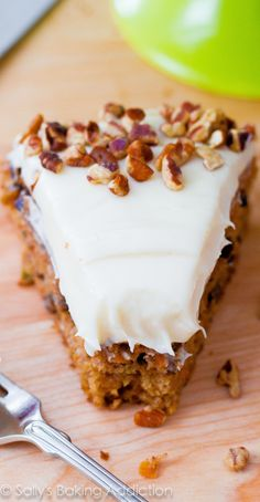 Make scrumptious carrot cake at home with this easy recipe. Super moist and super flavorful!