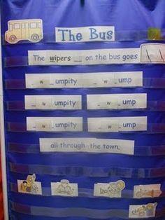 Wheels on the Bus phonemic activity Alphabet Activities, Book Activities, Preschool Activities, Primary School Teacher, Primary Teaching, Teaching Ideas, Preschool Classroom, Kindergarten, Classroom Ideas