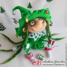 Купить Лесная феечка Лёлька-Ёлька - ярко-зелёный, Новый Год, новогодний подарок