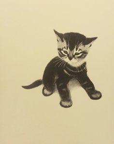 Vintage Butch the Tabby Cat Kids Wall Art by earlybirdsale on Etsy, $8.00