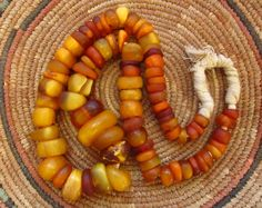Natural-antique-african-amber-beads