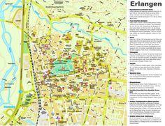 erlangen sightseeing map germanymaps