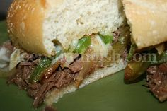 Crockpot Italian Beef Sandwiches ~ Tried and true recipe .....delicious!