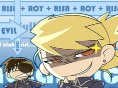 FMA - Riza Hawkeye and Roy Mustang   Love this picture ^_^