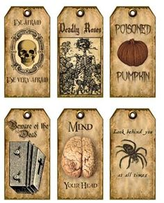 Vintage inspired 18 Halloween spider brain skeleton scrapbooking crafts tag for sale online Retro Halloween, Casa Halloween, Theme Halloween, Halloween Spider, Holidays Halloween, Halloween Crafts, Halloween Decorations, Halloween Tricks, Halloween Apothecary Labels