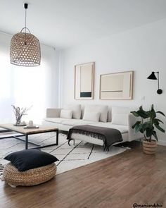 Haus Dekoration Netural Living Room Decor Wohnzimmer modernes Wohnzimmer # Wohnzimmer Mudarse a Otro Living Room Modern, Living Room Interior, Home And Living, Living Room Designs, Small Living, Cozy Living, Cream And Black Living Room, Living Room White Walls, Nordic Living Room