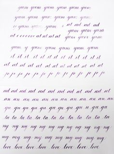 My Studies in Copperplate Calligraphy | Smitten On Paper