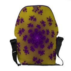 Customizable Banana Floral Sprinkles Medium Messenger Bag. Check this product out at www.zazzle.com/wonderart*