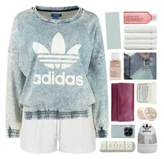"""""""another friday night i wasted."""" by annamari-a ❤ liked on Polyvore featuring Elizabeth and James, adidas Originals, adidas, Korres, Davines, Linum Home Textiles, Samsung, Status Anxiety, Avon and women's clothing"""