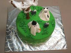 Ghost Halloween birthday cake