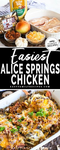 Easy Alice Springs Chicken · Easy Family Recipes The BEST Chicken Dinner! This easy baked chicken is a winner for a kid friendly meal that is easy to make and easy to clean up. Family Recipes, Easy Dinner Recipes, Easy Meals, Dessert Recipes, Alice Springs Chicken, Easy Baked Chicken, Baked Pork, Cooking Recipes, Recipes