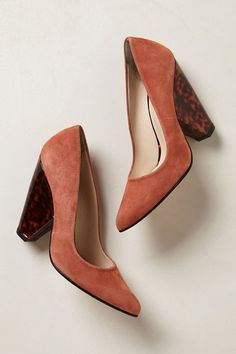 Anthropologie Pink Sandy Tortie Pump