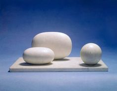 Barbara Hepworth  Three Forms  Serravezza marble, 1935