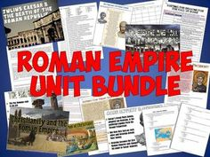 This fantastic Roman Empire Unit Bundle includes 17 teaching resources for an amazing unit on the Roman EMpire! Includes 4 PowerPoints, 2 tests, projects, worksheets, and other fantastic activities!