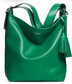 LOVE this green purse