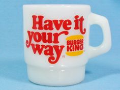 【送料無料】ファイヤーキング BURGER KING Have it your way バーガーキング マグ