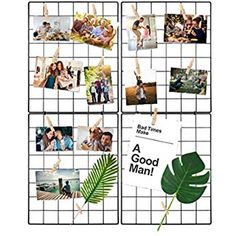 WUZILIN Upgrade wall grid shelf, DIY iron grid of photo wall decoration pin board photo on the memo board hanging in the family, kitchen, office and so on * Rose gold Deco Panel, Black Shelves, Family Kitchen, Grid, Photo Wall, Boards, Wall Decor, Kitchen Office, Amazon Fr