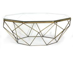Four Hands Marlow Geometric Coffee Table - Antique Brass from Schreiter's