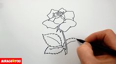 In this video I show how to draw a rose with pencil. I draw a rose step by step easy. Pleasant viewing and success in work!