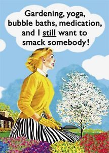 Garden Humour Fridge Magnets Choice of 20 Funny Female Slogans