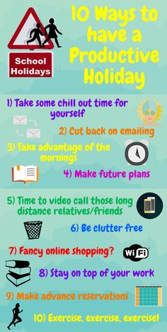 For more information, please visit: https://www.kent-teach.com/Blog/post/2015/04/05/10-Ways-to-have-a-Productive-Holiday.aspx