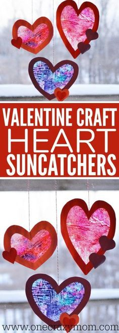 Let the kids make a homemade suncatcher for the perfect Valentine's Day Craft. They will love this heart suncatcher and it's so simple to make. Try this easy Valentine craft for kids! Kinder Valentines, Valentine Crafts For Kids, Valentines Day Party, Holiday Crafts, Valentine's Day Crafts For Kids, Easy Arts And Crafts, Toddler Crafts, Art For Kids, Valentinstag Party
