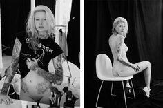 Martine Lindskjold nue dans Euroman magazine