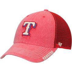 huge selection of dac27 171d4 Men s Texas Rangers  47 Red Burnstead Clean Up Trucker Adjustable Hat, Your  Price