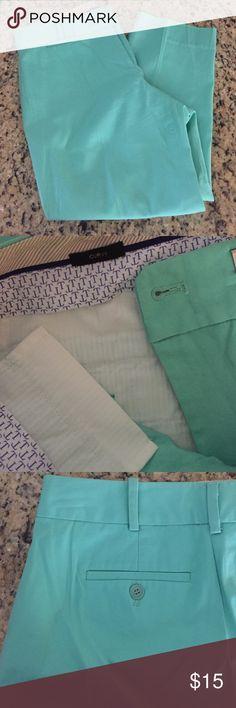 Mint Crop Capri  pants Excellent condition mint crop pants, curvy fit. Size 6. Tag size isn't in pants. Color is truest in second picture Talbots Pants Capris