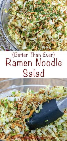 The BEST Ramen Noodle Salad Asian Food Recipes, Healthy Food Recipes, Best Salad Recipes, Yummy Recipes, New Recipes, Dinner Recipes, Cooking Recipes, Dinner Ideas, Risotto