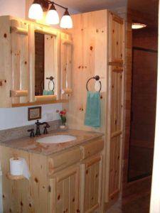 Knotty Pine Bathroom Mirror Rustic