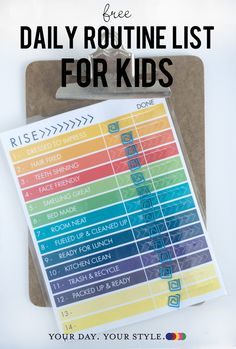 Tired of nagging your kids to be ready before and after school? Print this free chart to help your kids take responsibility for themselves. Daily Routine Kids, Daily Routine Chart, Parenting Styles, Parenting Advice, Parenting Websites, Kids School Organization, Keep The Peace, Charts For Kids, Printable Planner