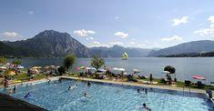BERGFEX-Sehenswürdigkeiten - Solarbad Altmünster - Altmünster - Ausflugsziel - Sightseeing Solar, Alter, Bad, Mountains, Nature, Travel, Kiddie Pool, Swiming Pool, Playground