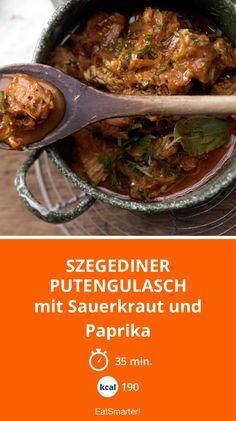 Szegediner Putengulasch - mit Sauerkraut und Paprika - smarter - Kalorien: 190 kcal - Zeit: 35 Min. | eatsmarter.de