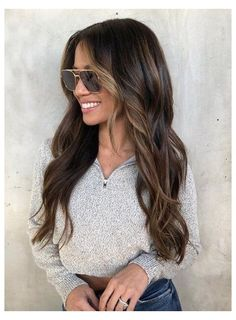Haircuts For Long Hair With Layers, Long Hair With Bangs, Long Wavy Hair, Long Layered Hair, Long Hair Cuts, Curly Hair, Hair 24, Straight Hair, Face Framing Bangs