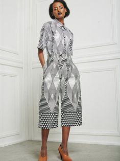 Chulaap Diamond Print Shirt Black and White