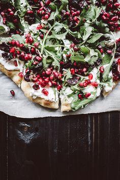 Flatbread with Ricotta and Pomegranate Salsa