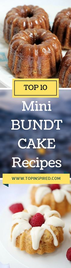 In this article it's all about the mini version of cakes. Small, sweet with all different kind of glazes and toppings. They are perfect for any occasion, especially for gatherings like birthdays or family reunions. Check out these ten amazing recipes and enjoy every bite of the cake!