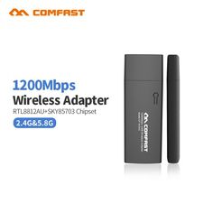 COMFAST CF-WU782AC 5.8GHz USB WiFi Adapter 1300Mbps 802.11ac Long Distance WiFi Receiver 26dBi Antennas Dual Band