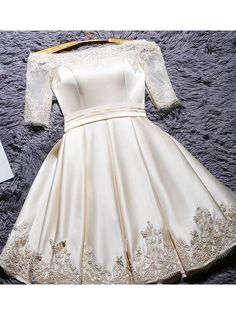 2017 Homecoming Dress Off-the-shoulder Satin Short Prom Dress Party Dress JK031