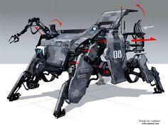 Transport Multifunctional Utility Bot., CAPTOON (Lee InSu) on ArtStation at…
